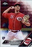 2016 Topps Chrome #148 Robert Stephenson Cincinnati Reds Baseball Rookie Card in Protective Screwdown Display Case