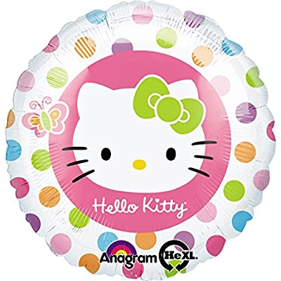 "Anagram International 86049, Multicolor Hello Kitty Rainbow Foil Balloon Pack, 18"": Kitchen & Dining"