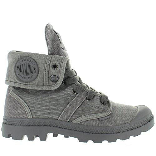 Palladium Men's Pallabrouse Baggy Chukka Boot, Titanium/High Rise, 8 M (Mens High Rise Canvas Shoe)