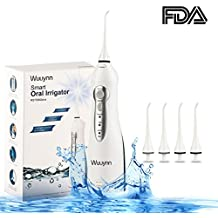 Wuuynn Cordless Water Flosser, Professional Rechargable Dental Water Pick Teeth Cleaner, IPX7 Waterproof Portable Oral Irrigator With 4 Jet Tips, Travel and Home Use