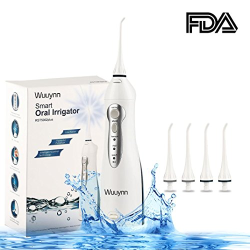 WUUYNN Portable Oral Irrigator, Professional Dental Water Flosser with IPX7 Waterproof and Cordless Design, 3 Modes Water Flossing with Cleanable Water Tank for Braces and Teeth Health Care