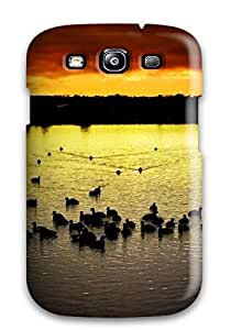 Cute High Quality Galaxy S3 Sunset On The Lake Case