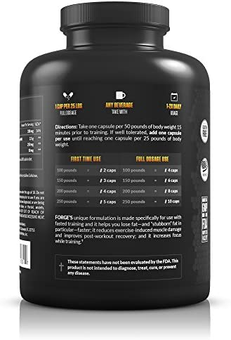 Legion Forge Fasted Fat Burner - Thermogenic Fat Burner, Target Stomach Fat and Trim Belly Fat with Yohimbe, HMB Supplement, Choline. All Natural, 45 Servings.… 4