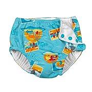 i play. Snap Reusable Absorbent Swimsuit Diaper,Aqua Surf Sunset,18mo