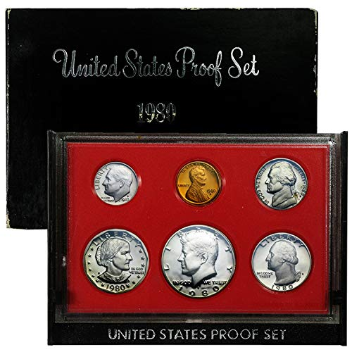 1980 S US Mint Proof Set - 6 Coin Set ()
