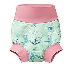 Splash About New Improved Happy Nappy Pannolino da Nuoto Riutilizzabile Unisex-Baby Arca di Nina 6-12 Mesi