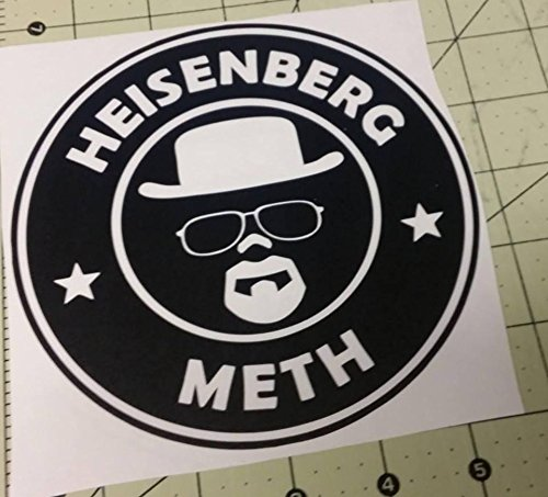 Heisenberg Meth Methamphetamine Narcos Decal Sticker Joke Spoof Car Window Wall Macbook Notebook Laptop Vinyl Decal