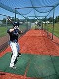 Jones Sports Batting Cage Net 12' H x 14' W x 55' L #18 HDPE Light Duty Baseball Softball Netting