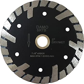 "5 Pack 4/"" Samurai Turbo Granite Diamond Blade T-SEG"