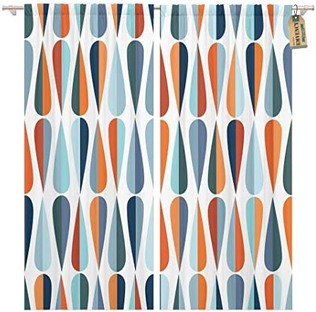 Golee Window Curtain Mid Century Modern Retro Drop Shapes
