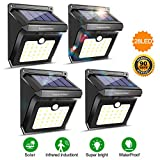 28 LEDs Solar Lights Outdoor, Motion Sensor Wireless Waterproof Security Wall Lights, Solar Light for Outdoor, Front Door, Back Yard, Garage, Porch by Luposwiten (4 Pack)