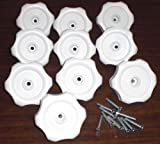 10 Each-RV Mobile Home Plastic Window Crank Handles White Round 1/4'' Shaft #743