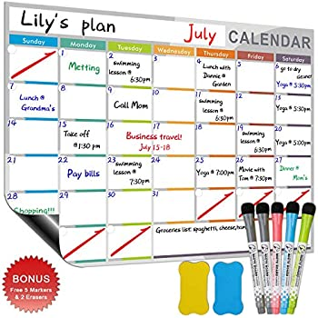 Amazon.com : Magnetic Monthly Calendar Planner for Your ...