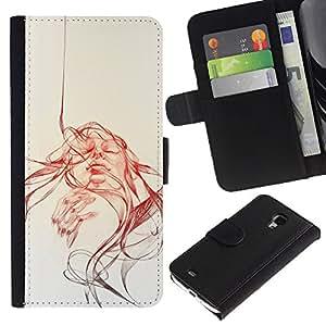 Stuss Case / Funda Carcasa PU de Cuero - Cara Remolino - Samsung Galaxy S4 Mini i9190