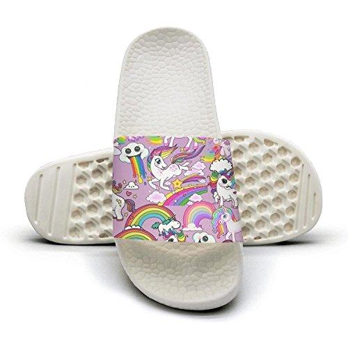 cartoon happy animal unicorn Man fashion popular Summer Sandals Slides Mules Slippers by Congjun