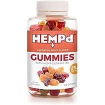 Can; HEMPd 25 mg. Hemp Extract Gummies (750 mg. per 30-Count Bottle