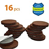 "Heavy Duty Felt Pads for Chair Legs X-PROTECTOR Premium 16 THICK 1/4"" HEAVY DUTY Felt Furniture Pads 2""! Felt Pads for Heavy Furniture Feet – Best Felts Wood Floor Protectors for NO SCRATCHES Sliders. Protect Your Hardwood Floor!"