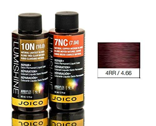 (Joico Lumishine Demi Permanent Liquid Color, 4rr/4.66, 2 Ounce)
