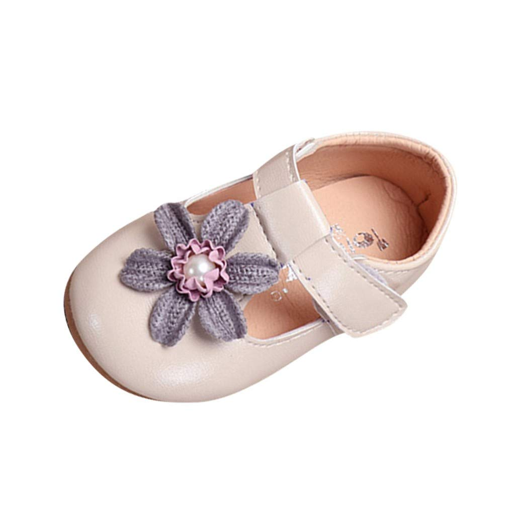 Toddler Mary Jane FAPIZI Infant Kids Baby Girls Elegant Flower Single Princess Casual Shoes