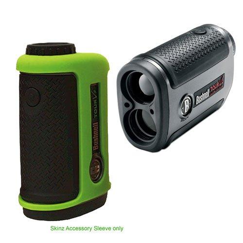 Bushnell Skinz Accessory for Tour V2 Green Silicone Clam + Bushnell Tour V2 Slope Edition Golf Laser Rangefinder