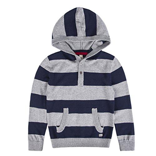Cotton Striped Sweatshirt - 8