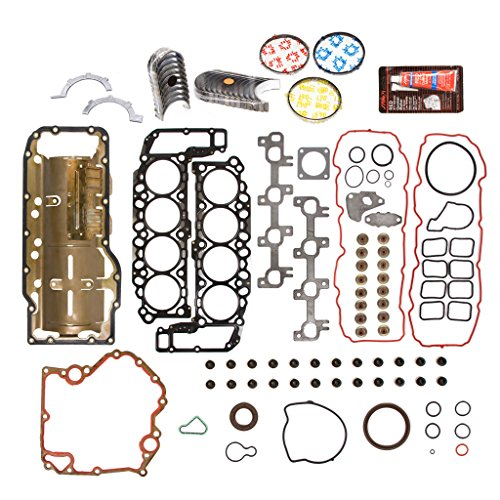 Evergreen Engine Rering Kit FSBRR8-30401EVE\0\0\0 Fits 04-07 Dodge Durango Dakota Jeep Mitsubishi 4.7 SOHC Full Gasket Set, Standard Size Main Rod Bearings, Standard Size Piston Rings