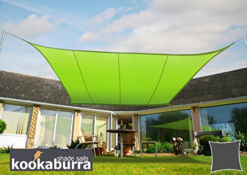 クッカバラパーティシェードセイル黄緑色 紫外線96.5%カット 布帛 - 耐水性タイプ OL4014 (長方形: 3 x 2m) B07C825TY5 10900 長方形: 3 x 2m  長方形: 3 x 2m