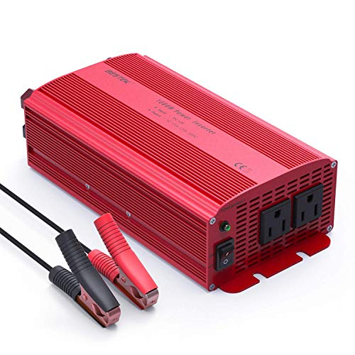 BESTEK 1000W Power Inverter Dual AC Outlets 12V DC to 110V AC Car Inverter