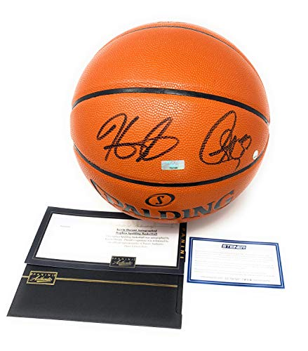 Stephen Curry Kevin Durant Golden State Warriors Dual Signed Autograph NBA Game Basketball Black Ink Steiner Sports & Panini Authentic Certified