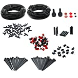 Irrigation Kit , JELEGANT 151ft Micro Irrigation Drip System Watering Systems Water Saving Drip Irrigation Water Automatic Kit For Garden Hanging Baskets Pot Plants Flower Beds Borders Greenhouses
