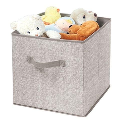 id/éal comme stockage de jouets couleur : lin mDesign boite de rangement en tissu panier de rangement pour penderie denfant ou penderie