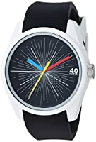 40Nine Men's 'Eclectic' Quartz Plastic and Silicone Casual Watch, Color:Black (Model: 40N3.8BK)