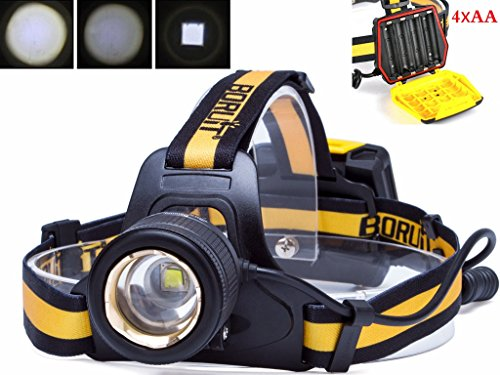 Boruit Headlamp Zoomable Waterproof Version