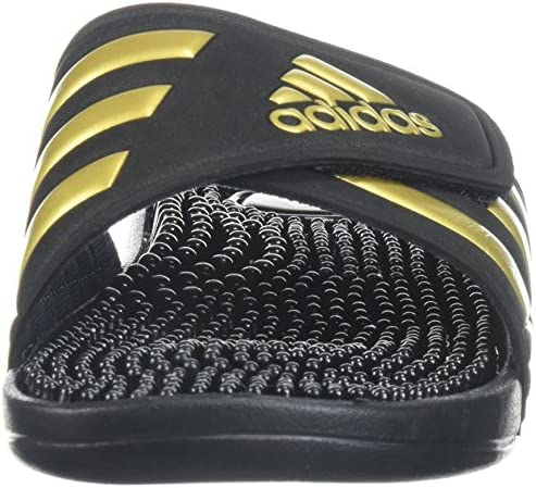 adidas Women's Adissage W Slide Sandal Metallic Gold/Legend Ink, 11 M US