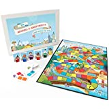 Personalized Name Board Game for Family Game Night, Race Across The U.S.A.