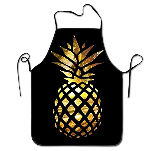 Sea Beach Hawaii Beach Sunset Pineapple Home Kitchen Apron BBQ Kitchen Cooking Bib Apron For Women Men ()