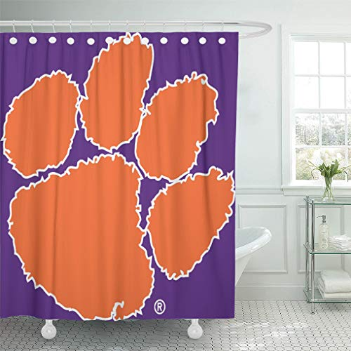 South Carolina Printed Curtain - Semtomn Shower Curtain Football Clemson University Tiger South Carolina Territory Power Basketball 72