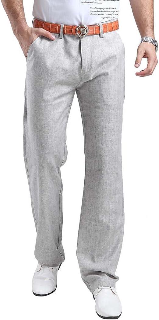 NestYu Mens Summer Simple Thin Straight-Fit Half Pants Regular Casual Trousers Light Blue 36