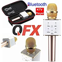 QFX Upgraded Wireless Portable Karaoke Microphone, Built-in KTV Bluetooth Speaker Player for iPhone Android Apple PC or Smartphone