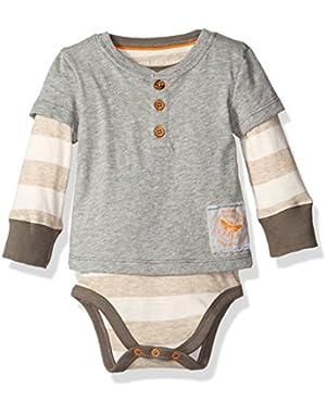 Baby Boys' Organic Henley 2-Fer Bodysuit