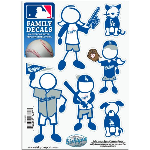 MLB Los Angeles Dodgers Small Family Decal Set