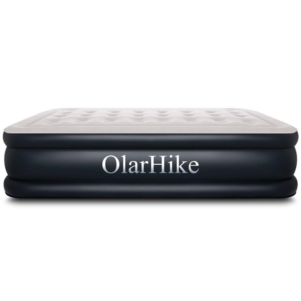 Queen Air Mattress with Built-in Pump for 2 Adults, Inflatable Double High Elevated Airbed for Guests with Comfortable Top, Raised 18'' Real Air Mattresses as Camping Bed, Inflated Size-80×60×18 INCH by OlarHike (Image #7)