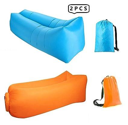 Amazon.com: DEVIN0705 Tumbona hinchable cómoda tumbona de ...