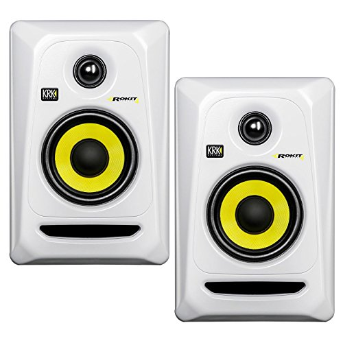 KRK RP4G3 4'' High Performance Studio Monitors - White (Pair) by KRK