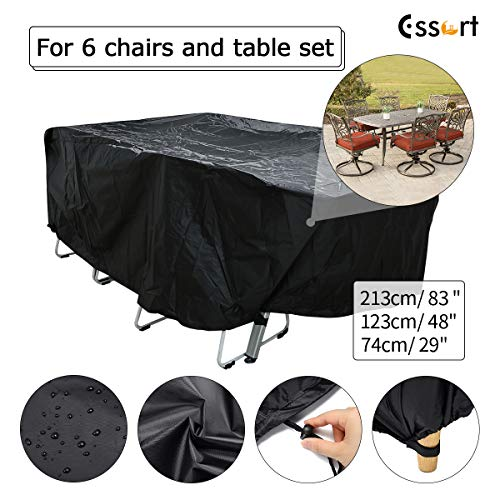 Storage Furniture 123 - ESSORT Patio Cover, Outdoor Furniture Cover, Lounge Porch Sofa Protector, Waterproof DustProof Protective Covers for Garden Furniture Set Loveseat