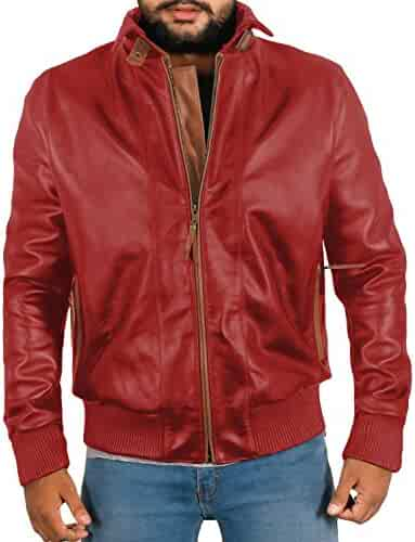 1501380 Black, Double Rider Jacket Laverapelle Mens Genuine Lambskin Leather Jacket