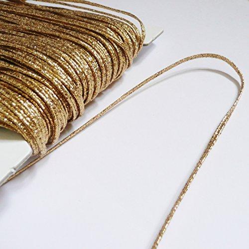 2M Cuerda De 3Mm De Rusia (soutache Cord) Gold Metallic Lurex On Trend Fabrics