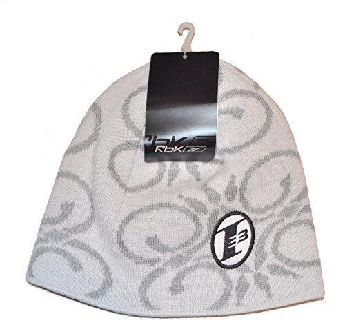 "Allen Iverson I3 ""The Answer"" White Knit Skull Cap - NBA Philadelphia 76ers Cuffless Beanie Hat"