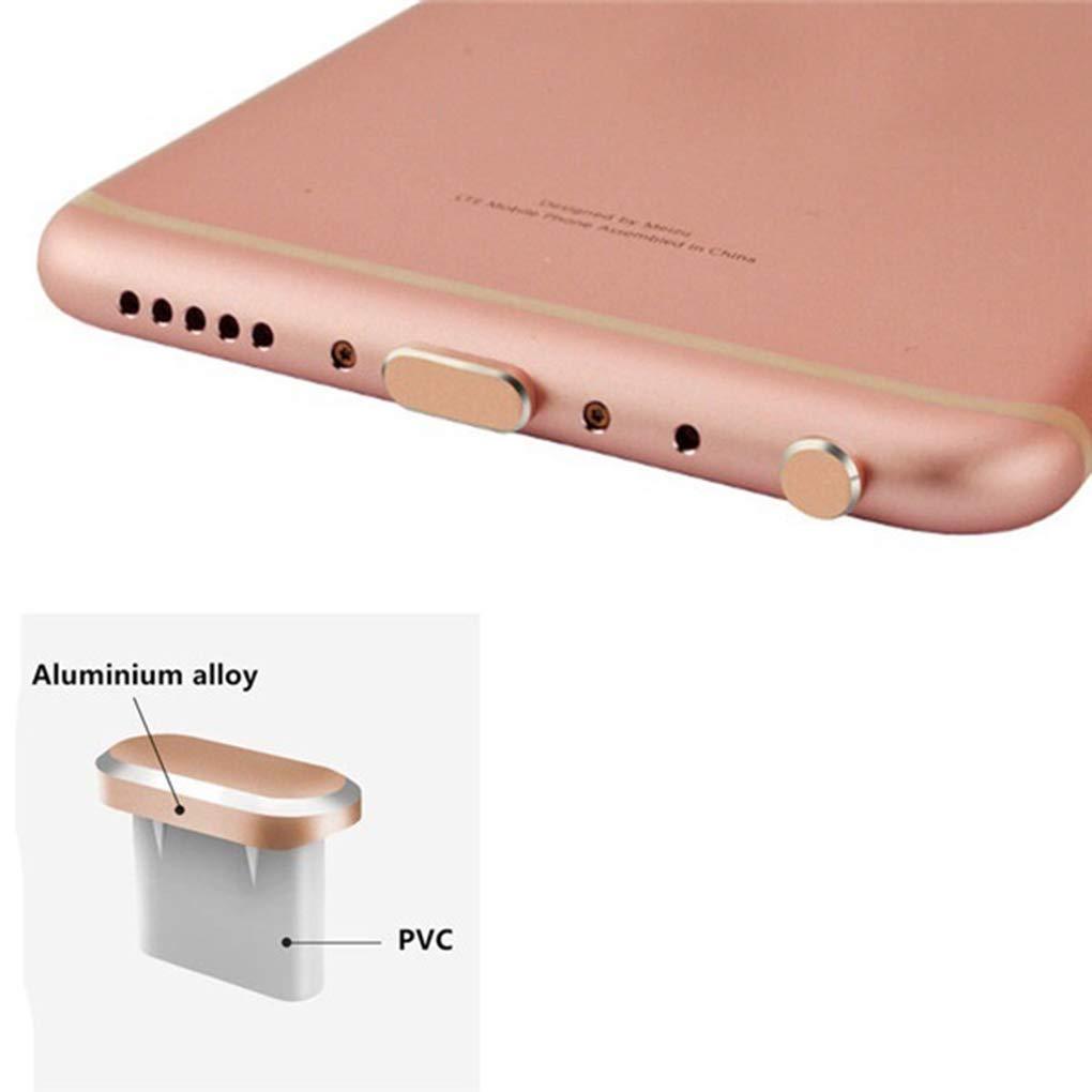 Lorsoul Reemplazo 2pcs Set del Enchufe del Polvo para Xiaomi Huawei Samsung Tipo C de Carga del Puerto de Auriculares Jack Enchufe del Kit del Polvo del USB