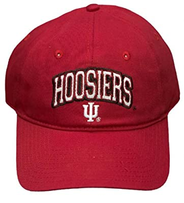 New! Indiana University Hoosiers Adjustable Buckle Back Hat Embroidered Cap from NCAA Signatures